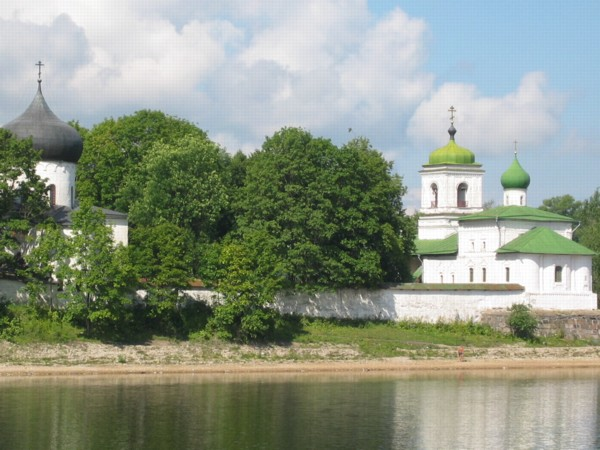 St. Stephan Church with the Holy Doors church in Russian Pskov city