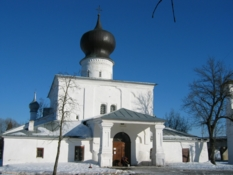 Dormition - Assumption - by the Ferry church in Russian Pskov city
