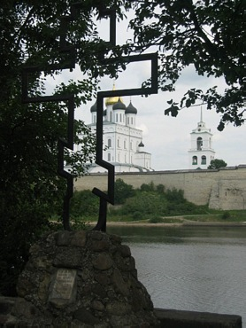 Pskov city on photos. Trinity Cathedral in Kremlin.