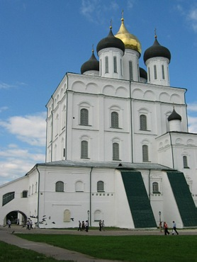 Pskov, Trinity Cathedral in Kremlin.