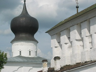 Dormition (Assumption) by the Ferry church in Russian Pskov city