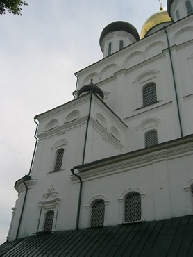 Pskov city. Thrinity Cathedral in Kremlin.