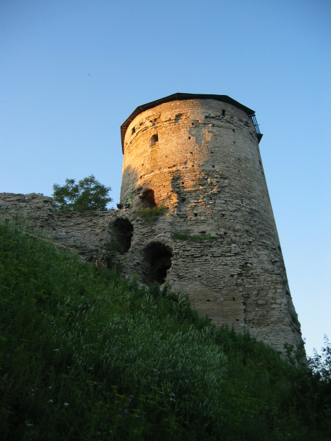 Pskov 1100 year. Gremyachaya Tower.